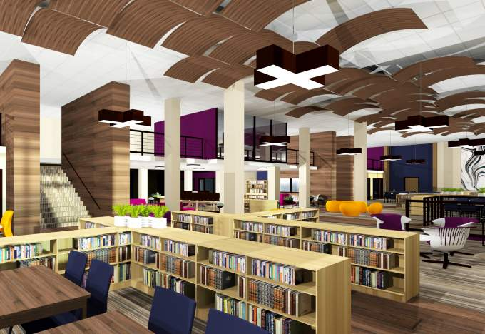 Library renovations on the boards what we do for Villa maria college interior design